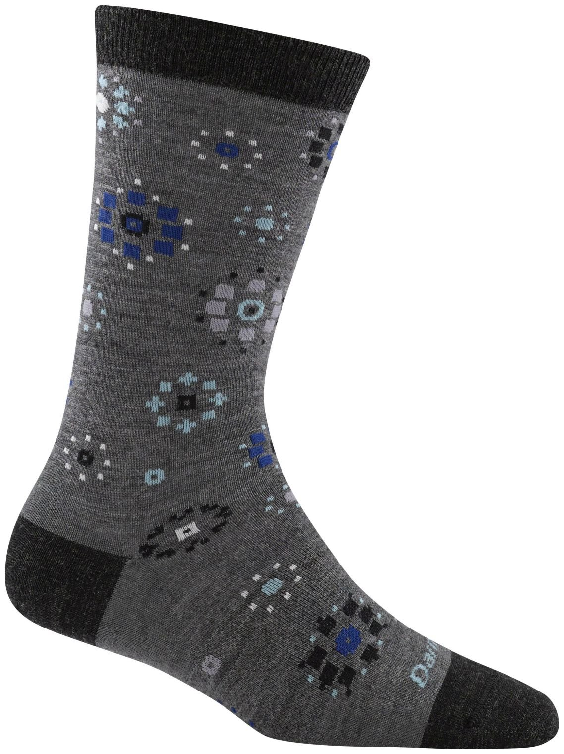 Darn Tough Burst Crew Socks - Women's Medium Gray Small