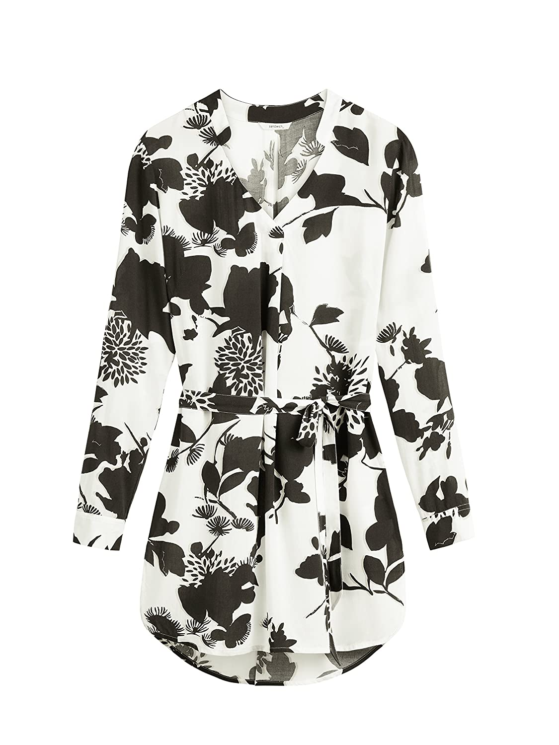 Sandwich Clothing Floral Silhouette Long Blouse, Almost Black:  Amazon.co.uk: Clothing