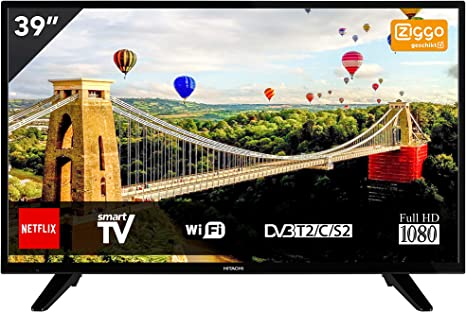 Hitachi 39he4005 Televisor 39 LCD IPS Direct Led Fullhd 600hz Smart TV WiFi: 190.94: Amazon.es: Electrónica