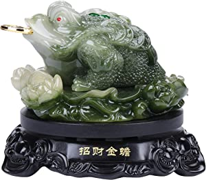 I-MART Feng Shui Money Frog Statue, Attract Wealth and Good Luck, Chinese Feng Shui Decor