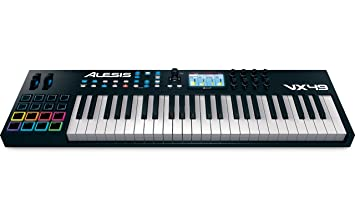 Alesis VX49 - Teclado USB MIDI avanzado de 49 teclas con pantalla a todo color, pads, controles asignables y software Virtual Instrument Player incluido: ...