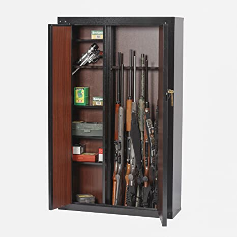 American Furniture Classics 916 16 Gun Metal Cabinet, Black ...