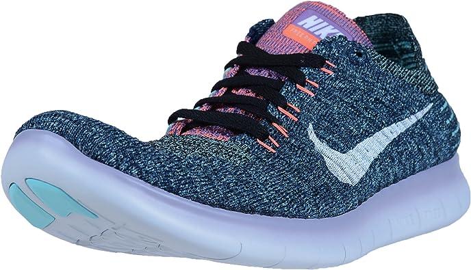 Zapatillas Nike Free RN Flyknit para correr de mujer, (Negro/Blanco Brillante Mango), 37 EU: Amazon.es: Zapatos y complementos