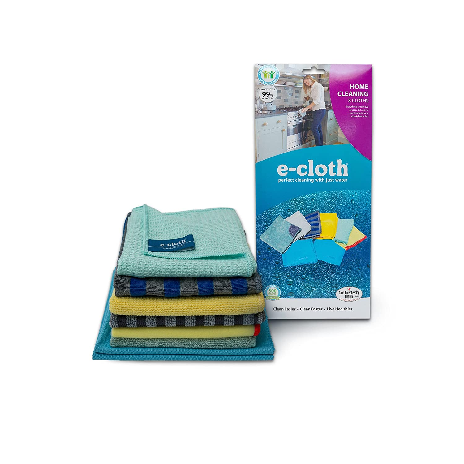E-Cloth Home Cleaning Starter Pack for Chemical-Free Cleaning with Just Water - 5 Cloth Set E-Cloth Inc. 10901