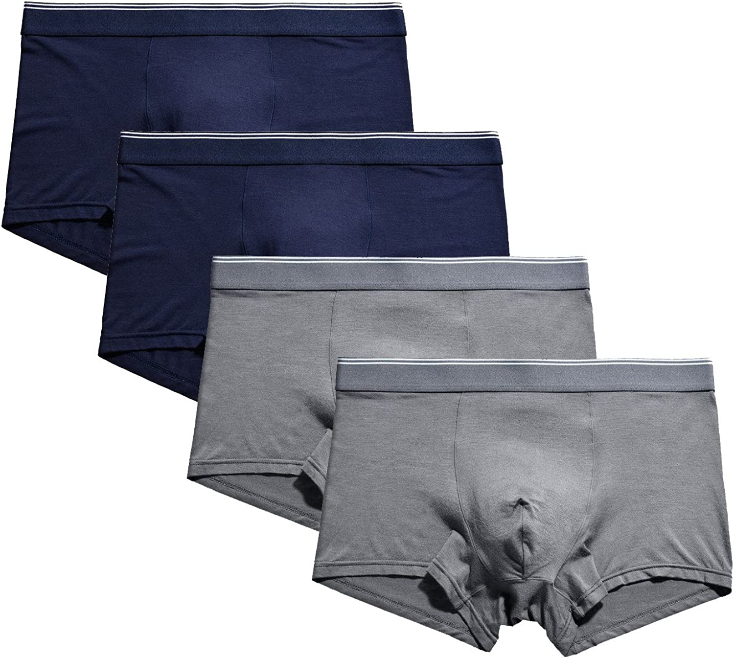 Seaoeey Boxer Briefs 4-Pack Breathable Comfort Underwear Shorts for Men and Boys