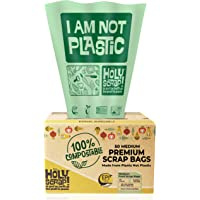 HOLY SCRAP! 100% Compostable Trash Bags, 6-8 Gallon, 30L, 50 Count, Heavy Duty 0.85 Mils, Medium Home Garbage Bin Liners…