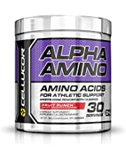 Cellucor Alpha Amino EAA & BCAA Recovery Powder, Essential & Branched Chain Amino Acids Supplement, Fruit Punch, 30 Servings