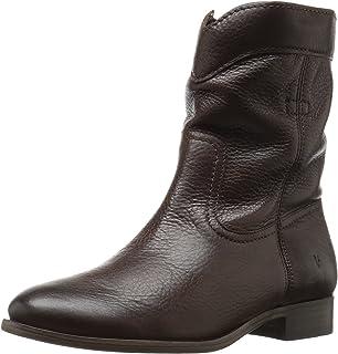 75c72219846 Amazon.com | FRYE Women's Cara Short Suede Boot | Mid-Calf