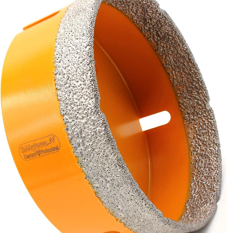 HOBBYPOWER24/® Premium Diamantbohrkrone Fliesenbohrer Diamantbohrer Diamant Bohrkrone /Ø 45 mm Fliese Feinsteinzeug Marmor Naturstein Granit M14 passend f/ür Winkelschleifer Flex