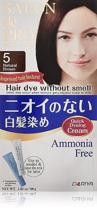 DARIYA Salon De Pro Non Smell Hair Color, No. 5 Natural Brown, 2.82 ounces