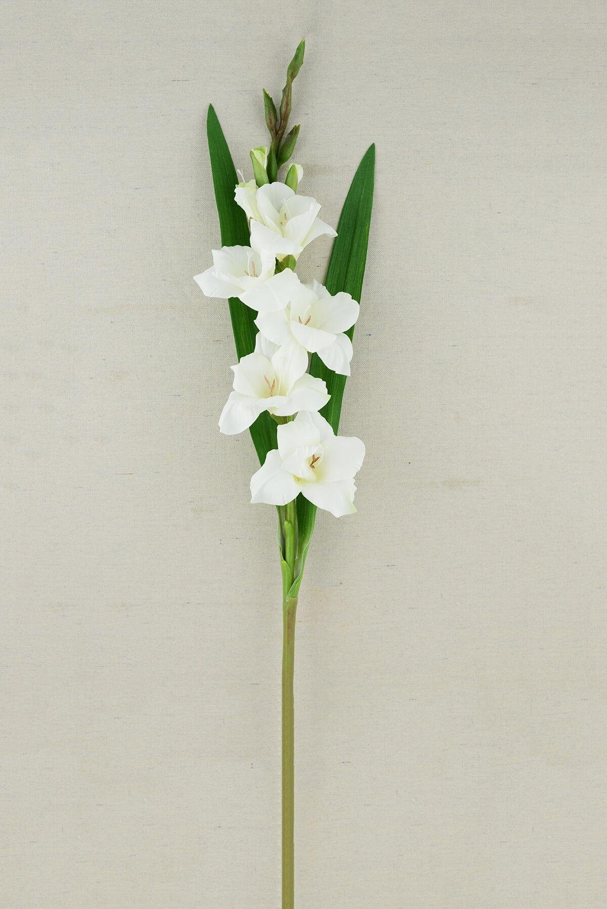 """silk flower arrangements richland gladiolus flower cream 33"""""""
