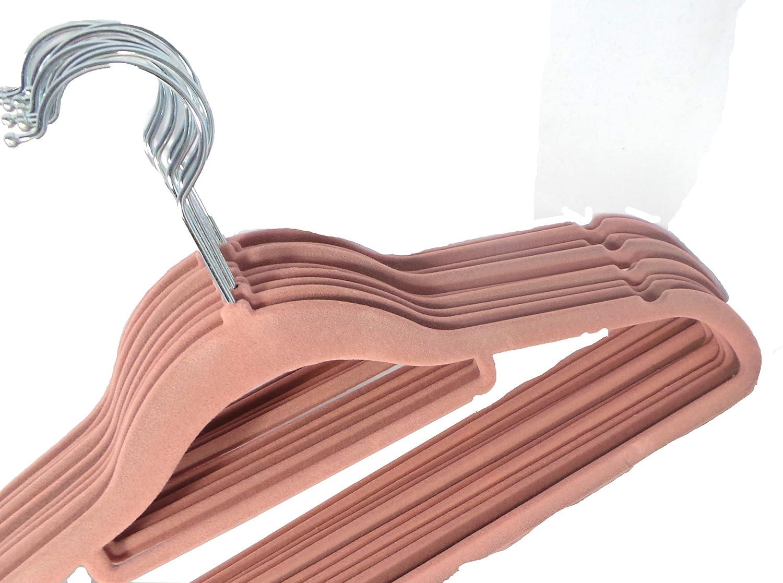 Kleiderbügel Beflockt neu kleiderbügel rutschfest mit rosa samt beflockt kleiderbügel