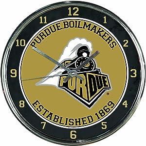 NCAA Purdue Boilermakers Chrome Clock
