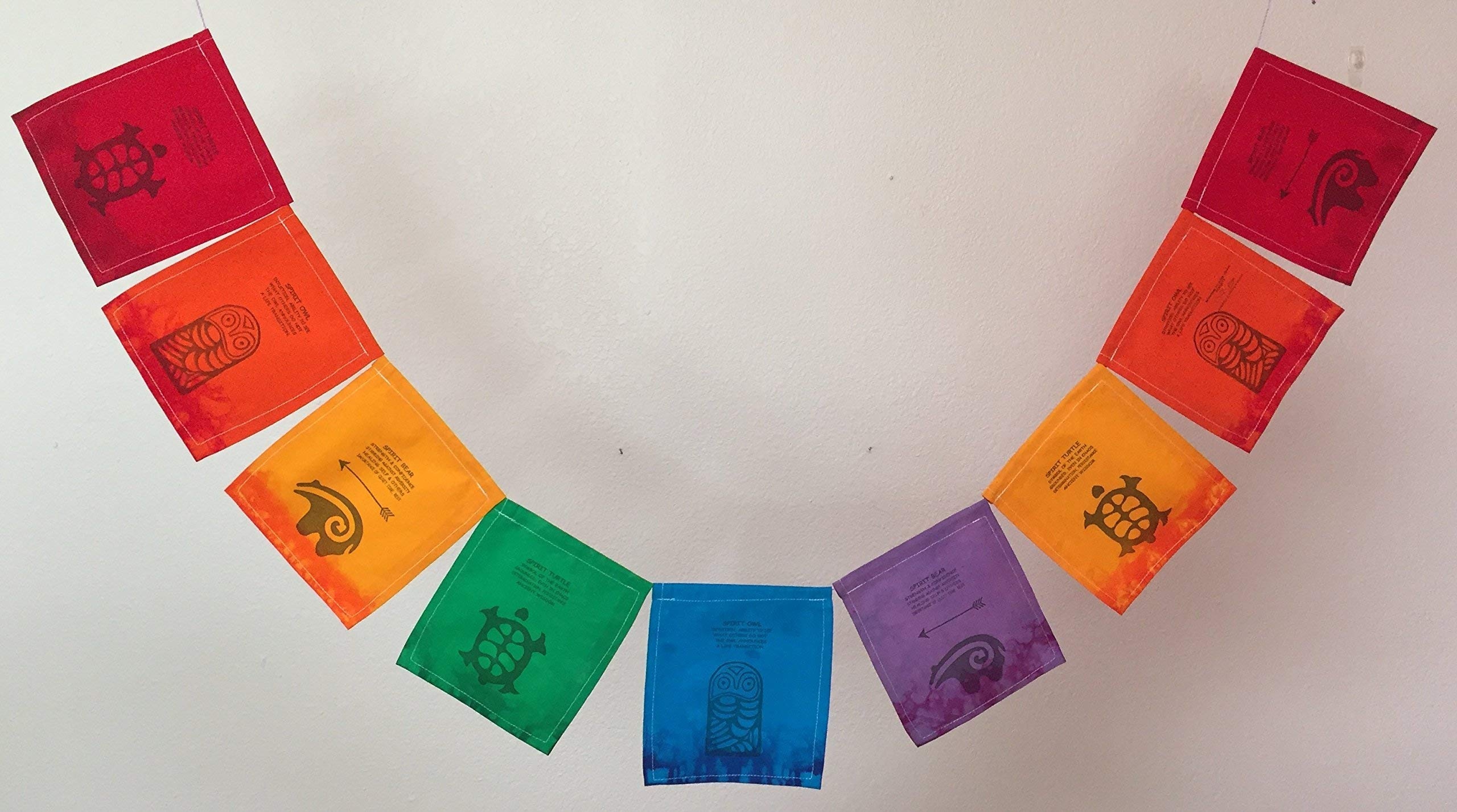 Turtle, Owl, Bear, Spirit Animals' Prayer Flag All proceeds to families in Mexico.