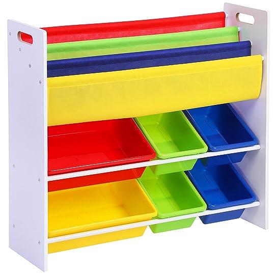 songmics meuble de rangement pour jouets et livres chambre denfant gkr03w - Rangement Chambre D Enfant