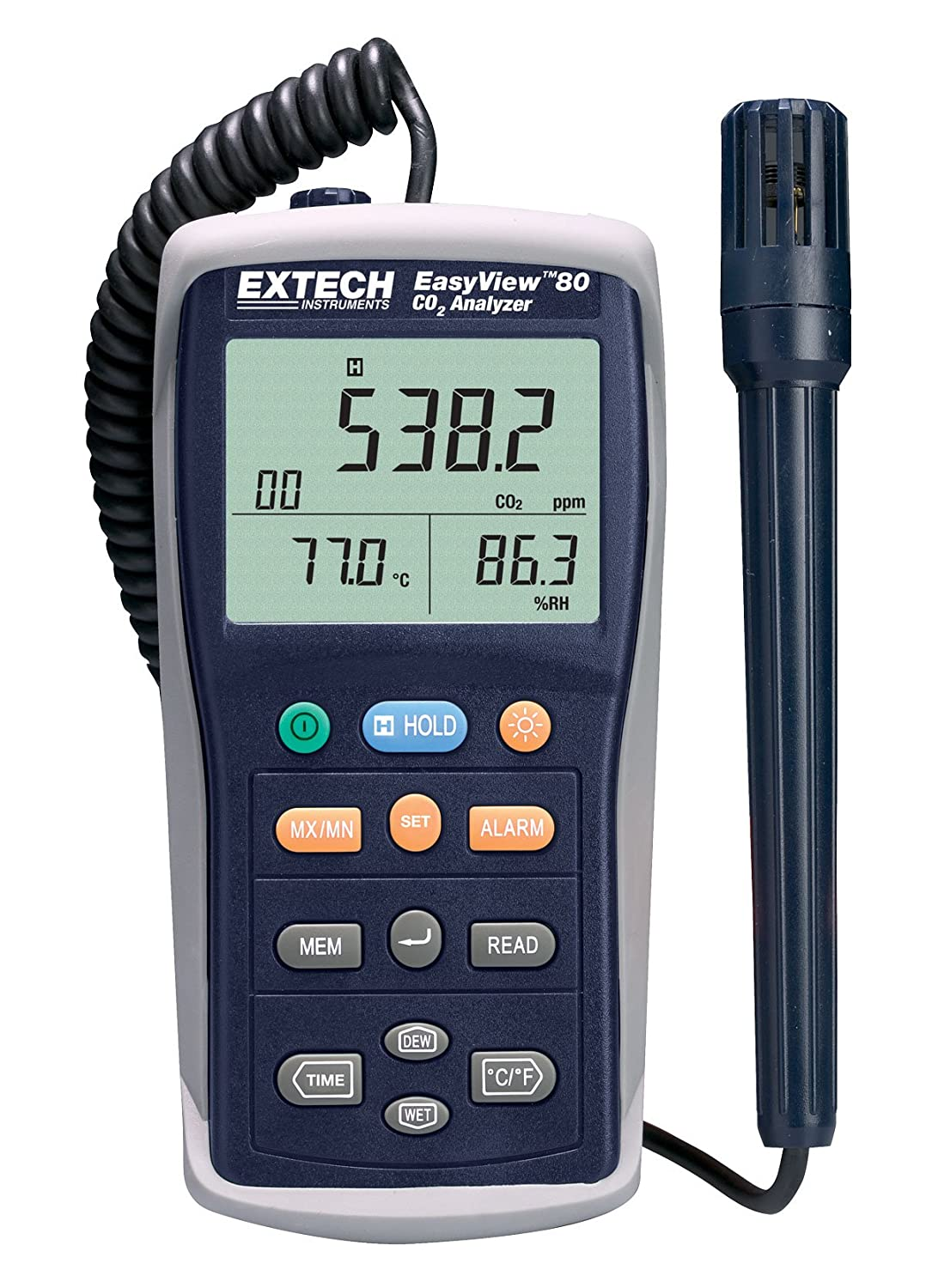 Amazon.com: Extech EA80 Easy View Indoor Air Quality Meter ...