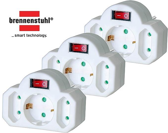 12 opinioni per Brennenstuhl- adattatore per presa Schuko, 2 Euro + Schuko + Schalter, bianco, 1