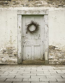 White Old Door Photography Backdrop Digital Rustic Country Style