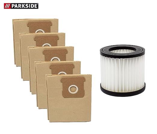 Parkside - Juego de 5 bolsas para aspiradora y filtro de ...
