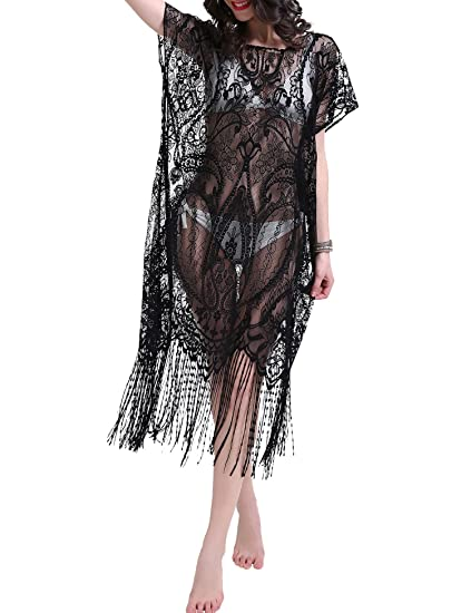 e27be7d84c5 Ggloves Summer Beach Cover Ups for Women Sexy Lace Long Maxi Tunic ...