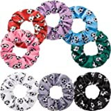 8 Pieces Soccer Hair Scrunchies Soccer Hair Ties Elastic Soccer Hair Bands Ponytail Holders Sport Hair Accessories for…