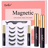 EARLLER 5 Pairs Magnetic Eyelashes with Eyeliner Kit, Reusable 3D / Natural Look False Lashes with Applicator, Upgraded…