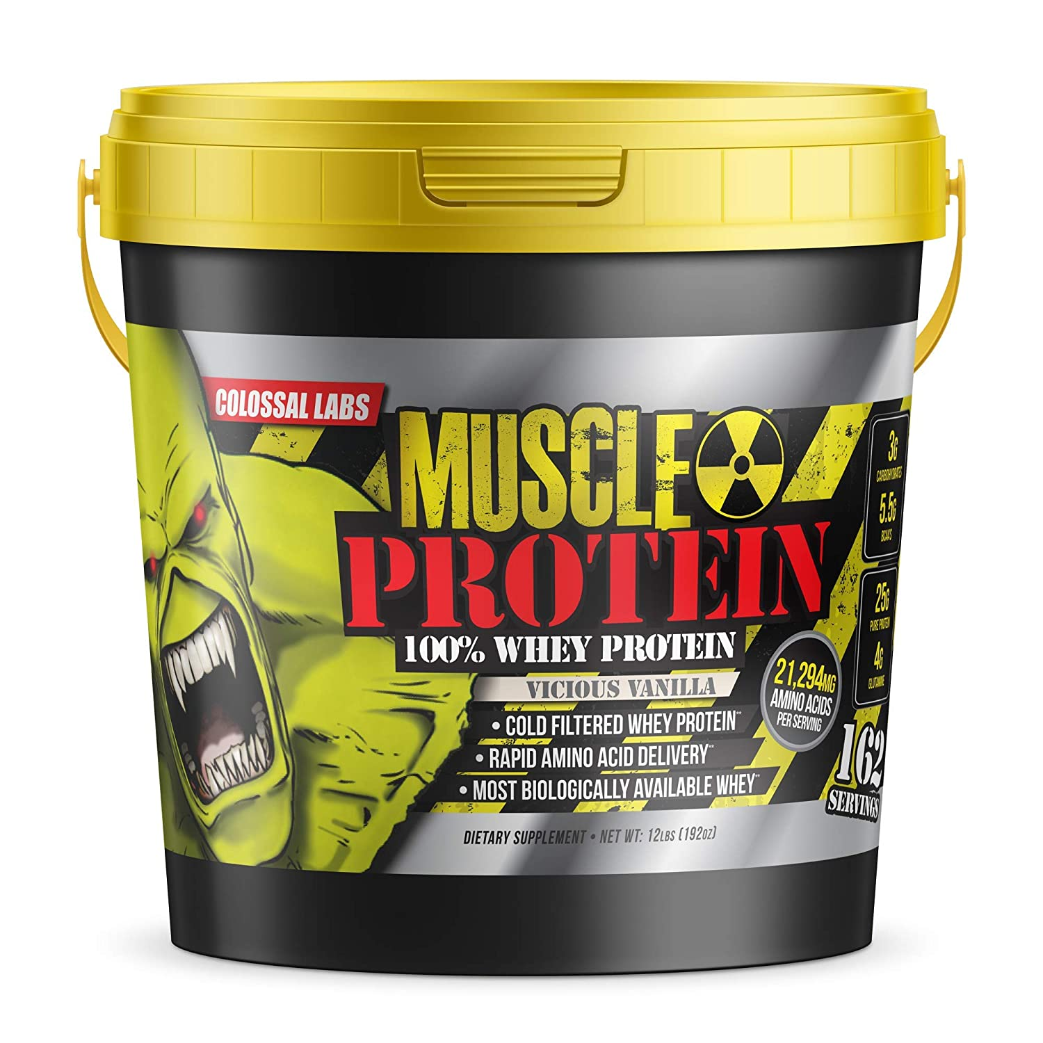 adf22a720 Amazon.com  Colossal Labs 10.5lbs Monster Muscle Protein – Vicious Vanilla   Health   Personal Care