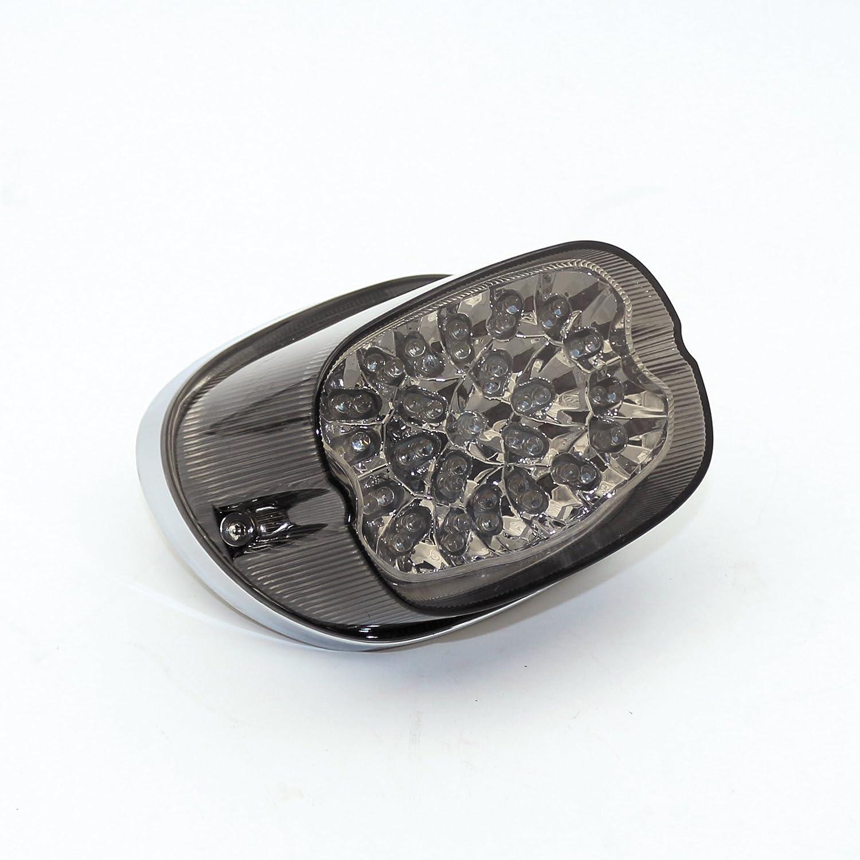LED Tail Light For Harley Davidson Motorcycle Sportster Dyna Electra  Glide(black)