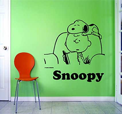 Amazoncom Snoopy Wall Decals Decal Bedroom Bed Time Story