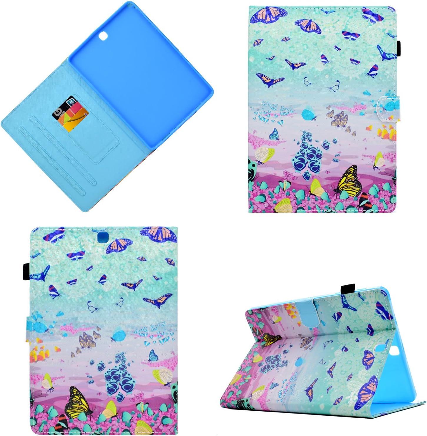 HereMore Galaxy Tab S2 9.7 Funda, Carcasa Protección Funda de Cuero Case para Samsung Galaxy S2 9.7