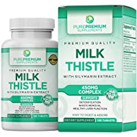 Premium Milk Thistle Extract by PurePremium (Non-GMO) Super-Concentrated Liver Cleanse...