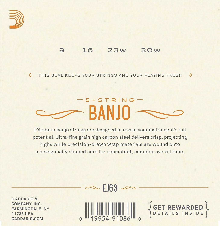 DAddario EJ63i 9-30 cuerdas n/íquel de pared para Tenor irland/és