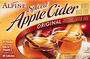 Alpine Spiced Cider Apple Flavor Drink Mix, 10 Count per pack, 7.4 Ounce, Pack of 12
