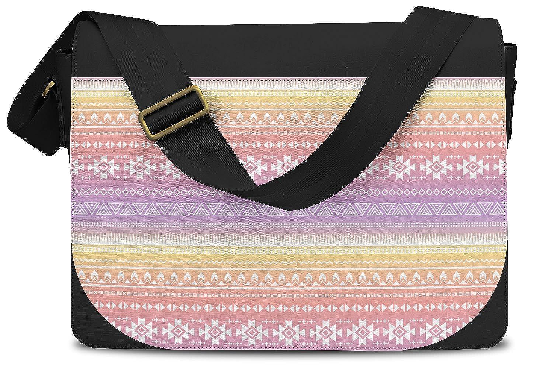 Cross Body Laptop School Work Bag Aztec Tribal Ombre Messenger Bag