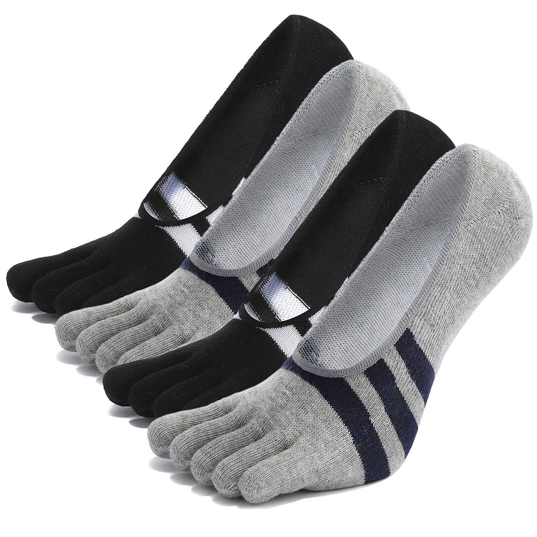 Hellomamma SOCKSHOSIERY メンズ US Shoes 7-10 Grey+black-4 Pack B075R56HMT