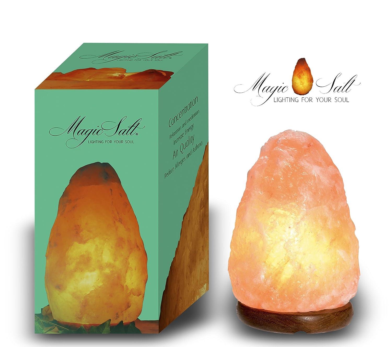 BOSALLA Lampada di sale con CERTIFICATO DI GARANZIA Salgemma dell'Himalaya 1, 5 - 2 kg