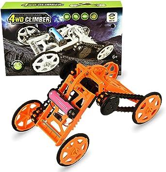 SOKY Proyectos de construcción de circuitos de vehículos de Escalada DIY para niños: Juguetes electrónicos (Naranja)