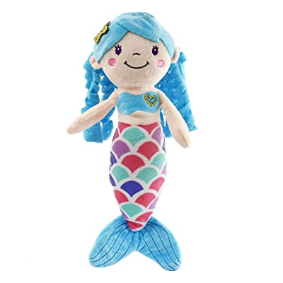 Athoinsu Mermaid Princess Stuffed Animals Soft Plush Doll Toys Birthday Children's Day Gifts for Girls Kids Toddlers, 12'' (Blue): Toys & Games