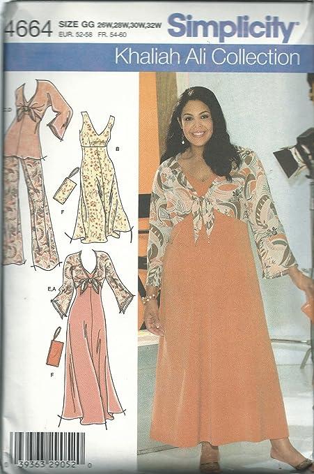 Simplicity 4664gg Sewing Pattern Womens Khaliah Ali Collection Size