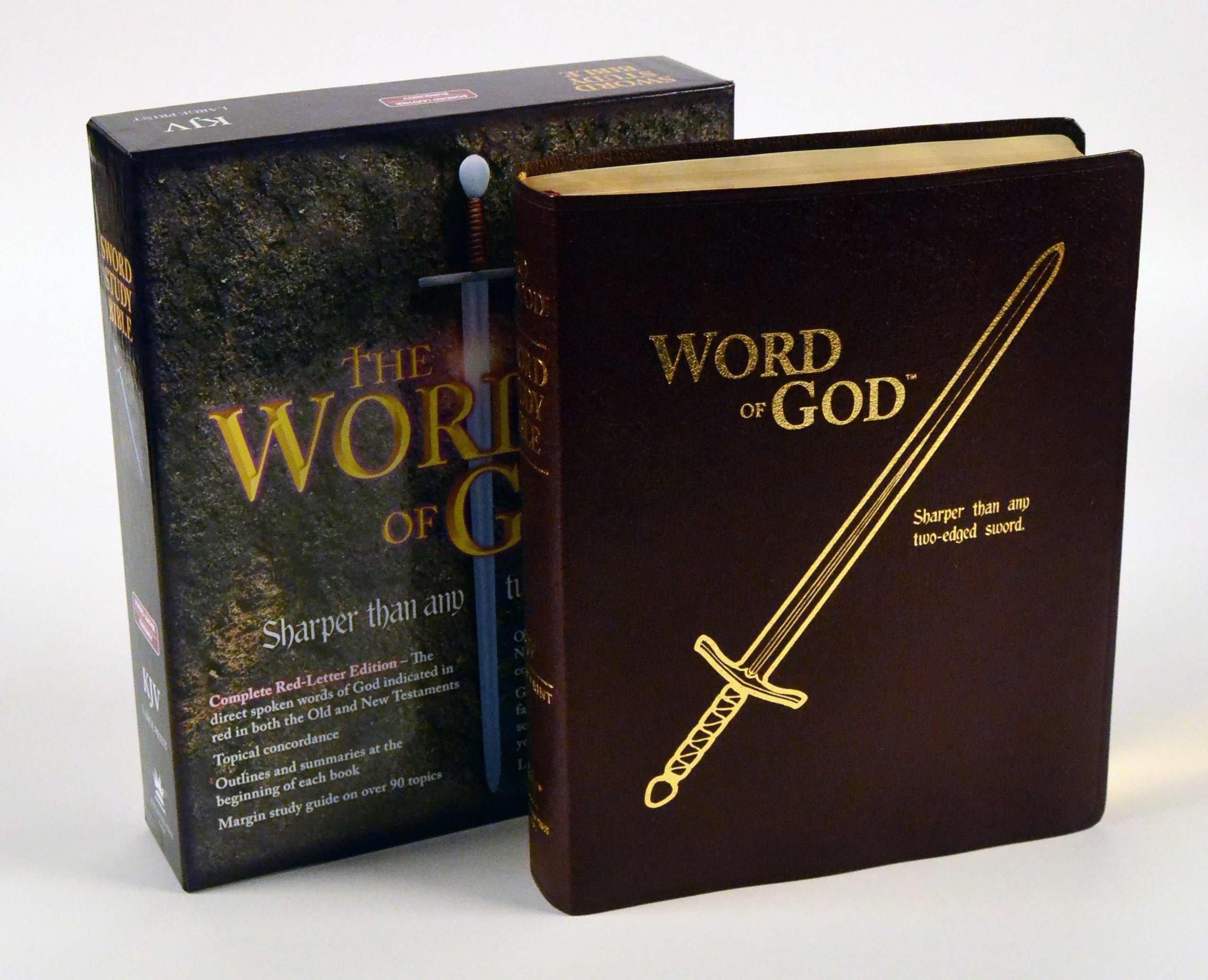 KJV Sword/Word of God/Large Prt-Blk Bond: Gem Publishing