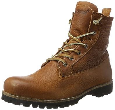 33cbf70f3dd52 Blackstone IL62 CUOIO SHEEPSKIN, Damen Biker Boots, Braun (Cuoio), 36 EU