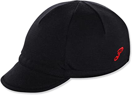 red skull cotton one size or any size Cycling cap reversible wool color black