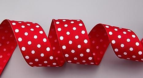25m Satinband apfelgr/ün mit wei/ßen Punkten Geschenkband Schleifenband 12mm breit Dekoband Satin Band Punkte Dots Tupfen rosa wei/ß Points decoration satin ribbon