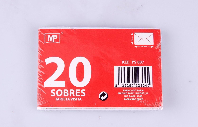 MP PS007 - Pack de 20 sobres, 105 x 70 mm: Amazon.es ...