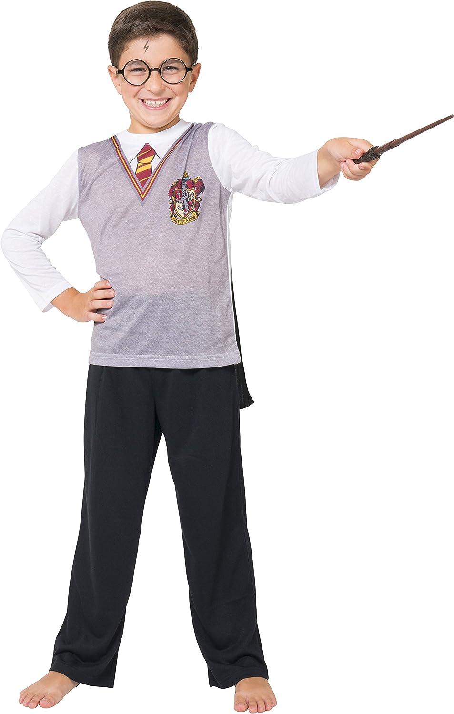 Harry Potter Boys' Big Ls Gryffindor Uniform with Cape 3 Piece Pj Set