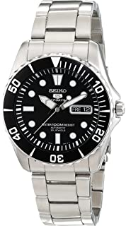 2df43752aa48b Amazon.com  Seiko 5 Blue Dial Stainless Steel Automatic Mens Watch ...