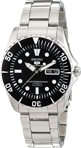Seiko 5 Men's Automatic Black Dial Stainless Steel Watch