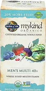 Garden Of Life Organic Mykind Men's 40 Multi, 72 CT
