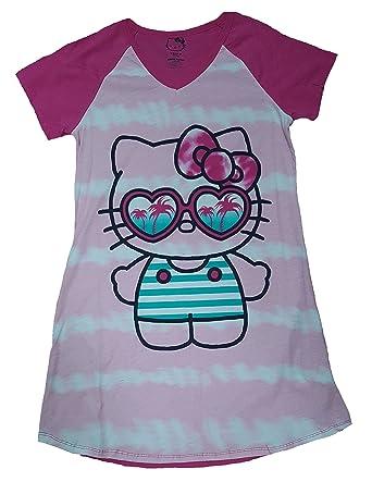 da75272c4 Hello Kitty Pink Nightgown Long Sleep Shirt - L/XL at Amazon Women's ...