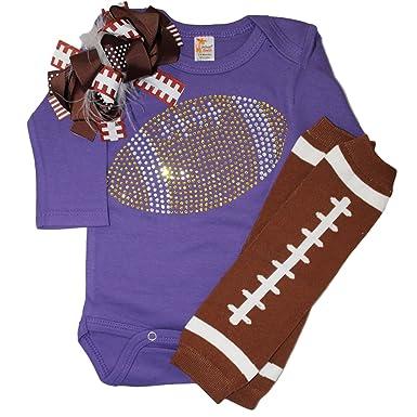 31e86d293 Amazon.com  FanGarb Baby Girl s Purple   Yellow Team Colored ...